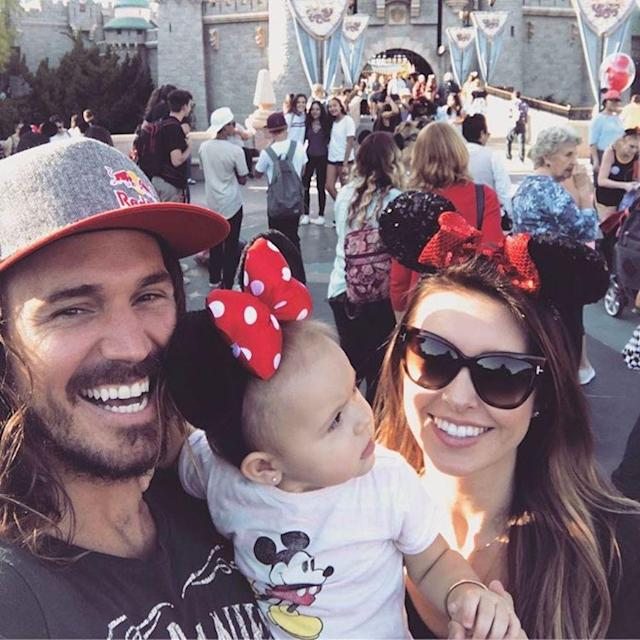 "<p>The former reality star and her husband, Corey Bohan, took their 11-month-old daughter to Disneyland this week, and she couldn't have looked cuter in her Minnie Mouse ears. ""Kirra was just a little overstimulated yesterday at Disneyland haha she could not stop staring at the balloons,"" laughed Patridge. <span>(Photo: </span><span><span>Audrina Patridge </span></span><span>via Instagram)</span> </p>"