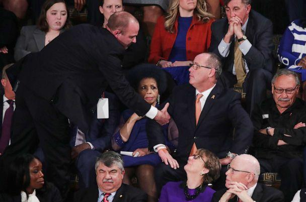 PHOTO: Fred Guttenberg, father of Parkland school shooting victim Jaime Guttenberg, is ejected after shouting during President Donald Trump's State of the Union address. (Tom Brenner/Reuters)