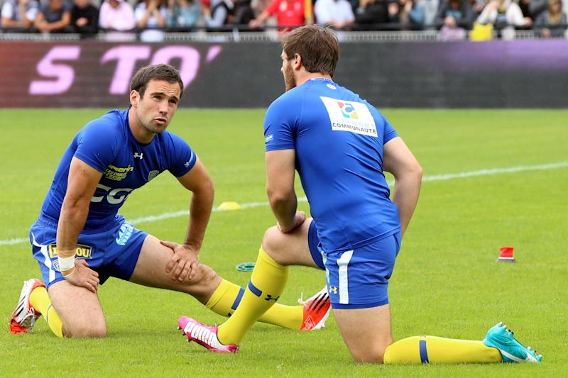 International scrum-half Morgan Parra (left) is set to play for the first time in two months after recovering from injury (AFP Photo/Diarmid Courreges)