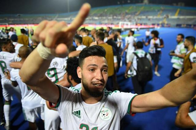 Ramy Bensebaini was part of the Algerian team at the Africa Cup of Nations (AFP Photo/MOHAMED EL-SHAHED )
