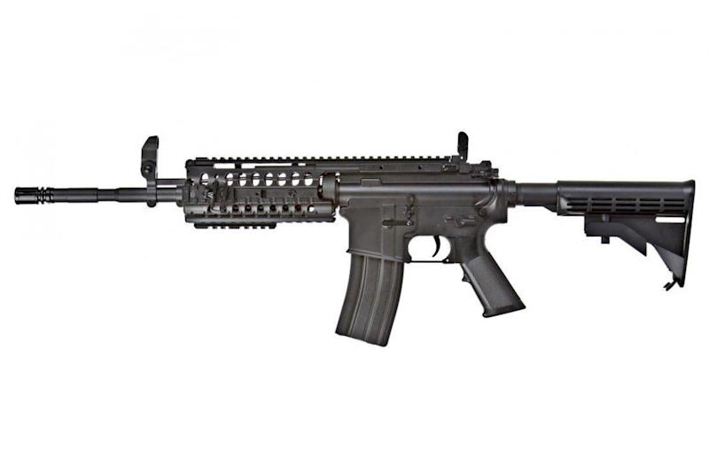The weaponry he used included an AR-15 like this one