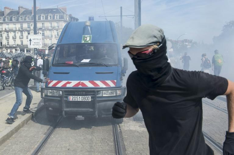 "The protests have at times been infiltrated by so-called ""black bloc"" anti-capitalist activists"