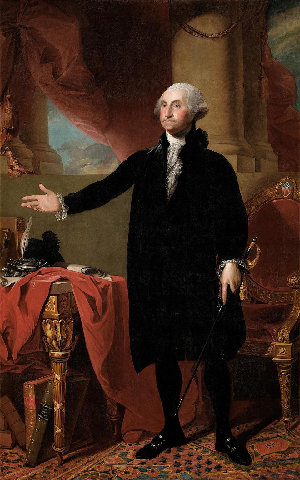 <p>Only one item was saved from the 1814 fire: a portrait of George Washington, which still hangs inside today. </p> <p>First Lady Dolley Madison — who lived in the White House at the time — refused to leave the burning building until the portrait was accounted for. </p>
