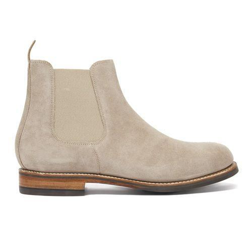 """<p><a class=""""link rapid-noclick-resp"""" href=""""https://go.redirectingat.com?id=127X1599956&url=https%3A%2F%2Fwww.matchesfashion.com%2Fproducts%2FGrenson-Warren-suede-Chelsea-boots-1398350&sref=https%3A%2F%2Fwww.esquire.com%2Fuk%2Fstyle%2Fshoes%2Fg30456077%2Fbest-chelsea-boots%2F"""" rel=""""nofollow noopener"""" target=""""_blank"""" data-ylk=""""slk:SHOP"""">SHOP</a></p><p>The Chelsea boot was a style first invented by Queen Victoria's shoemaker J Sparkes-Hall in the 19th century. Grenson mirror the original silhouette in a soft, beige suede. Set on a robust leather midsole and anti-slip rubber sole, this boot will go wonders with light blue denim jeans. </p><p>Warren Suede Chelsea Boots, £290, <a href=""""https://go.redirectingat.com?id=127X1599956&url=https%3A%2F%2Fwww.matchesfashion.com%2Fproducts%2FGrenson-Warren-suede-Chelsea-boots-1398350&sref=https%3A%2F%2Fwww.esquire.com%2Fuk%2Fstyle%2Fshoes%2Fg30456077%2Fbest-chelsea-boots%2F"""" rel=""""nofollow noopener"""" target=""""_blank"""" data-ylk=""""slk:matchesfashion.com"""" class=""""link rapid-noclick-resp"""">matchesfashion.com</a></p>"""