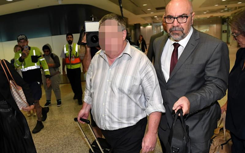 A man (left) extradited from Victoria in connection with the 1970 abduction and murder of Wollongong toddler Cheryl Grimmer - AAP