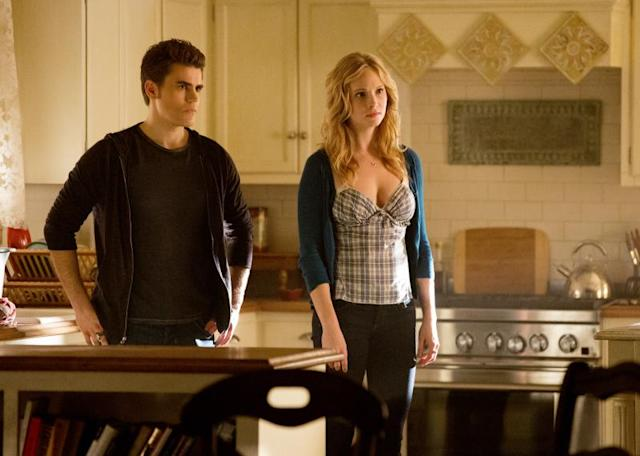 """Stand by Me"" -- Paul Wesley as Stefan and Candice Accola as Caroline"
