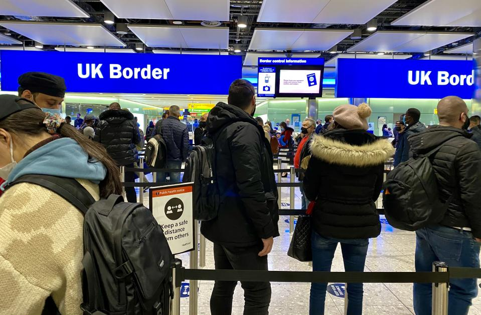 Heathrow said the collapse in numbers was 'due to the ban on all but essential travel, blanket quarantine, pre-departure and post-arrival testing.' Photo: Getty
