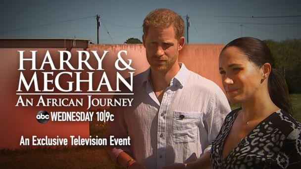 """PHOTO: """"Harry & Meghan: An African Journey,' hosted by 'GMA' co-anchor Robin Roberts, airs Wednesday, Oct. 23, at 10 p.m. ET, on the ABC Television Network. (ABC)"""
