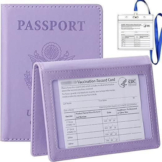 <p>The <span>Tigari Passport Cover and Vaccine Card Holder Combo in Violet</span> ($10) is such a lovely light purple hue.</p>