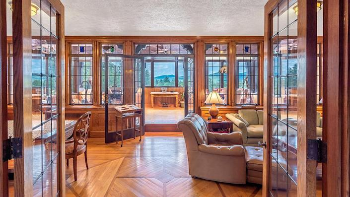 The interiors have wood-paneling and hand-carved millwork. - Credit: Photo: Courtesy of Francois Gagne
