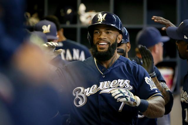 Milwaukee, led by Eric Thames, has hit a ton of home runs so far in 2017. (Getty Images)