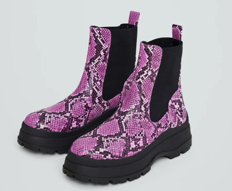 Noize Alfie Boots in Pink Python