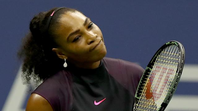 Unwilling to discuss her lost No. 1 ranking, Serena Williams said she'd been battling a knee injury at the U.S. Open.
