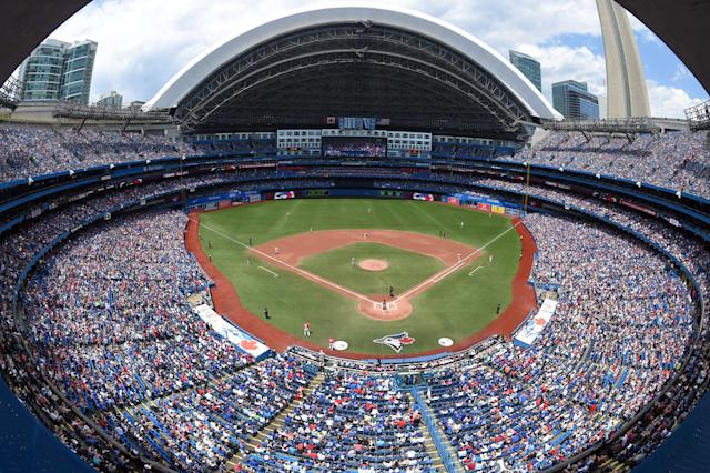 FILE PHOTO: A general view during the game between the Boston Red Sox and the Toronto Blue Jays at the Rogers Centre July 2, 2017, in Toronto, Ontario, Canada. Mandatory Credit: Dan Hamilton/USA TODAY Sports/File Photo