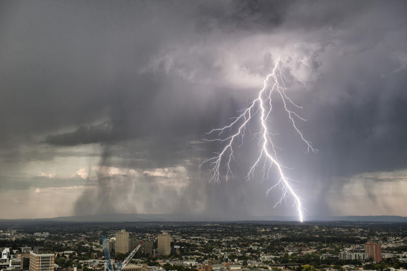 Beware if lightning strikes on a property market you made the wrong bet on. (Source: Getty)