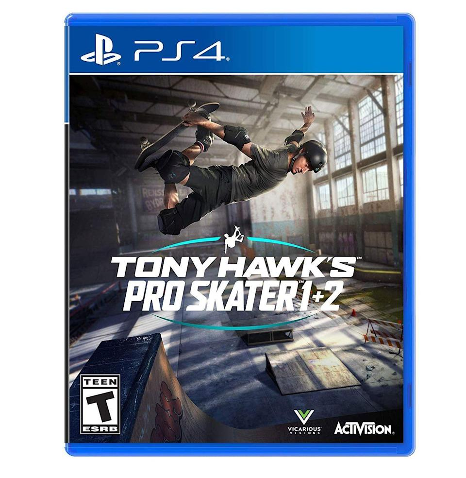 """<p><strong>ACTIVISION</strong></p><p>amazon.com</p><p><strong>$43.54</strong></p><p><a href=""""https://www.amazon.com/dp/B088J1DJ2G?tag=syn-yahoo-20&ascsubtag=%5Bartid%7C10054.g.14381053%5Bsrc%7Cyahoo-us"""" rel=""""nofollow noopener"""" target=""""_blank"""" data-ylk=""""slk:Buy"""" class=""""link rapid-noclick-resp"""">Buy</a></p><p>This is, without a doubt, the gnarliest, most off-the-rails video game release of the past year. If you aren't playing the remaster of <em>THPS</em>, then you're doing something wrong.</p>"""