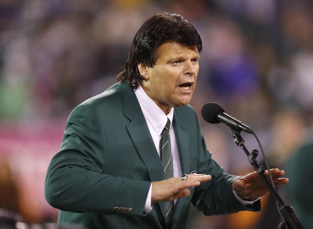 Former New York Jets defensive end Mark Gastineau isn't happy with how his sack record was broken. (AP Photo/Julio Cortez, File)