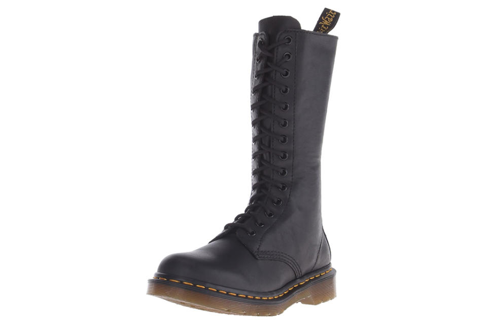 dr martens, boots, lace-up boots