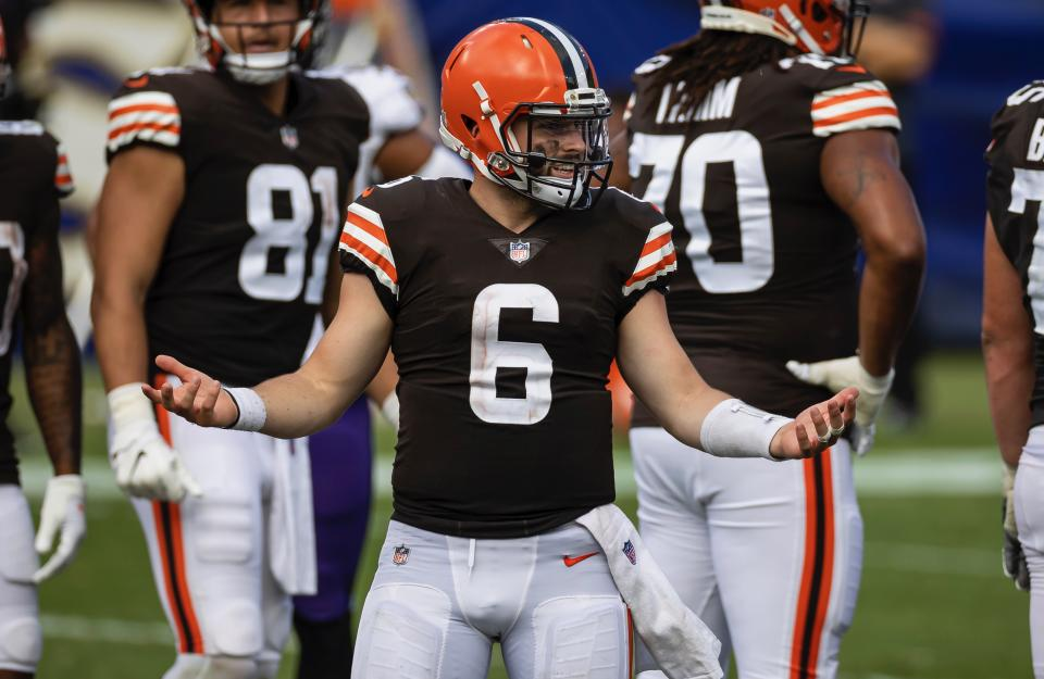 Can Baker Mayfield recover from last season's disaster?(Scott Taetsch/Getty Images)