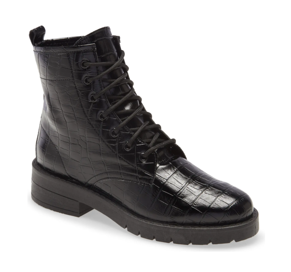 Topshop Buster Lace-Up Boot in Black (Photo via Nordstrom)
