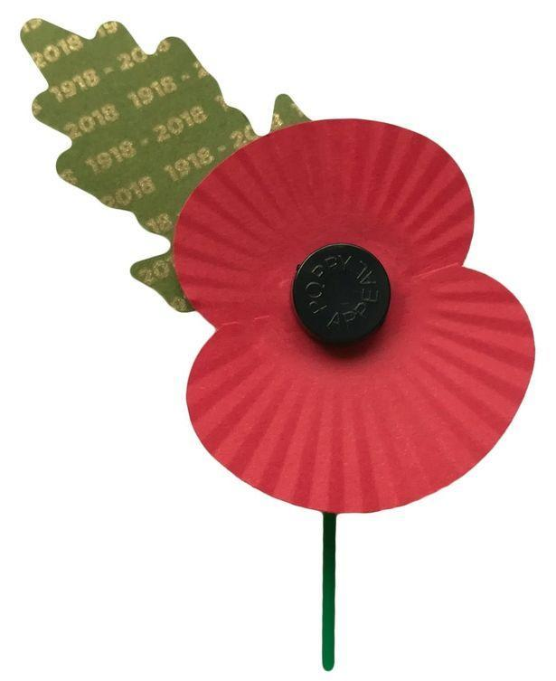 One in six poppies will feature a gold leaf print (Royal British Legion)