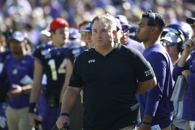 TCU coach Gary Patterson is the AFCA president this year. (AP Photo/Ron Jenkins)