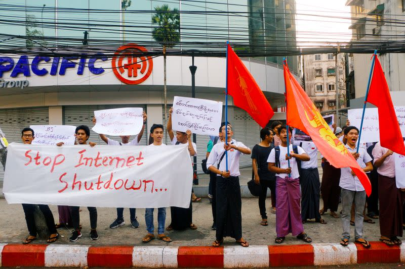 Myanmar students face charges over internet shutdown protest: student union