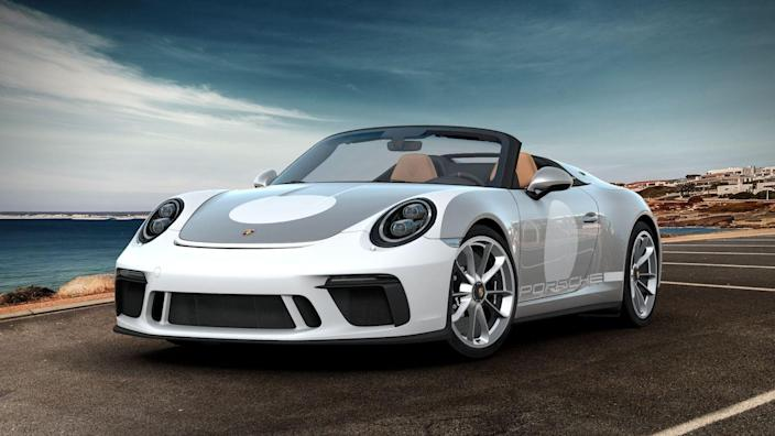 <p><em>Eric Stafford</em>: If I could afford the exclusive 911 Speedster in the first place, I'd spare no expense and grab the $24,510 Heritage Design package. While this requires GT Silver Metallic paint and a Black and Cognac leather interior, it enhances the convertible's retro vibe. Sure, the white-painted front bumper and circular emblems can be deleted for free, but this Porsche fan prefers the pageantry, however silly it may appear. Besides, the alternative paint colors are just as gaudy. I'd also choose the Satin Platinum wheels and the $2900 black-trimmed LED headlights for a more sinister look. </p>