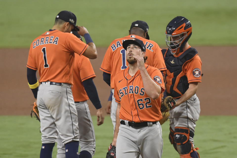 The baseball world, from past and present players to diehards fans, celebrate the Astros being eliminated from the 2020 postseason. (Photo by Harry How/Getty Images)