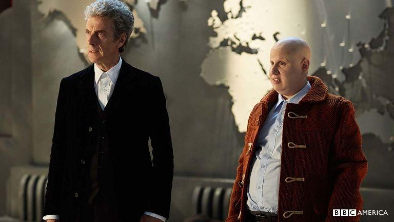 The Doctor and Nardole together; we've already seen the exchange that this photo comes from as part of Children in Need night.