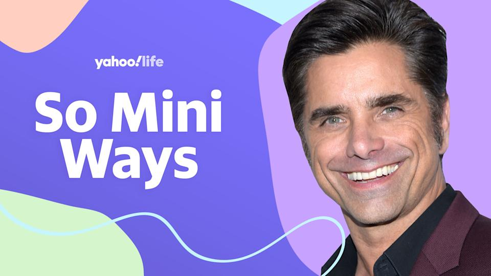 John Stamos talks dad -shaming, Disney secrets and having a kid later in life. (Photo: Getty Images; designed by Quinn Lemmers)