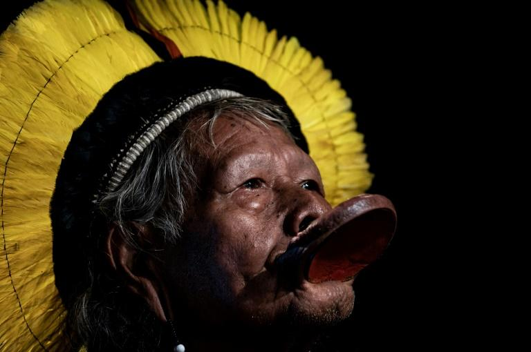 Brazil's indigenous chief Raoni Metuktire of the Kayapo people is famous for his work in defense of the Amazon rainforest