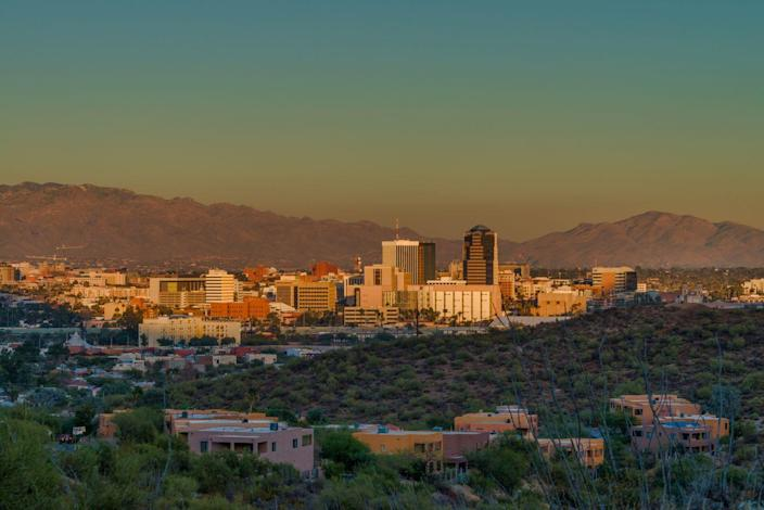 """<p><strong>Established in: </strong>1775</p><p>Tucson is the second largest city in the state. It began as a small <a href=""""https://arizonahistoricalsociety.org/education/esperanza/early-tucson/"""" rel=""""nofollow noopener"""" target=""""_blank"""" data-ylk=""""slk:Spanish presido"""" class=""""link rapid-noclick-resp"""">Spanish presido</a>, or walled fortress, and was once considered part of Mexico. Today, the city is home to the University of Arizona. </p>"""