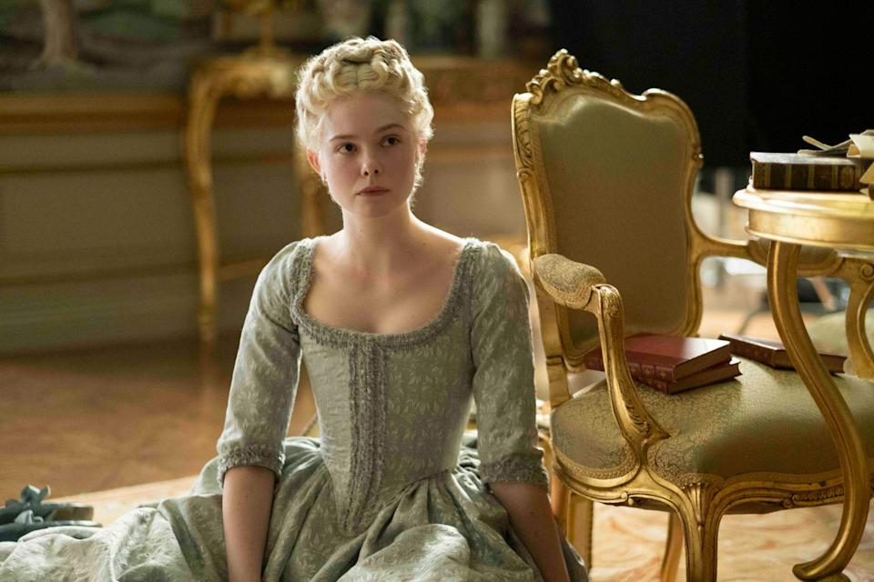 """Catherine (Elle Fanning) in """"The Great."""""""