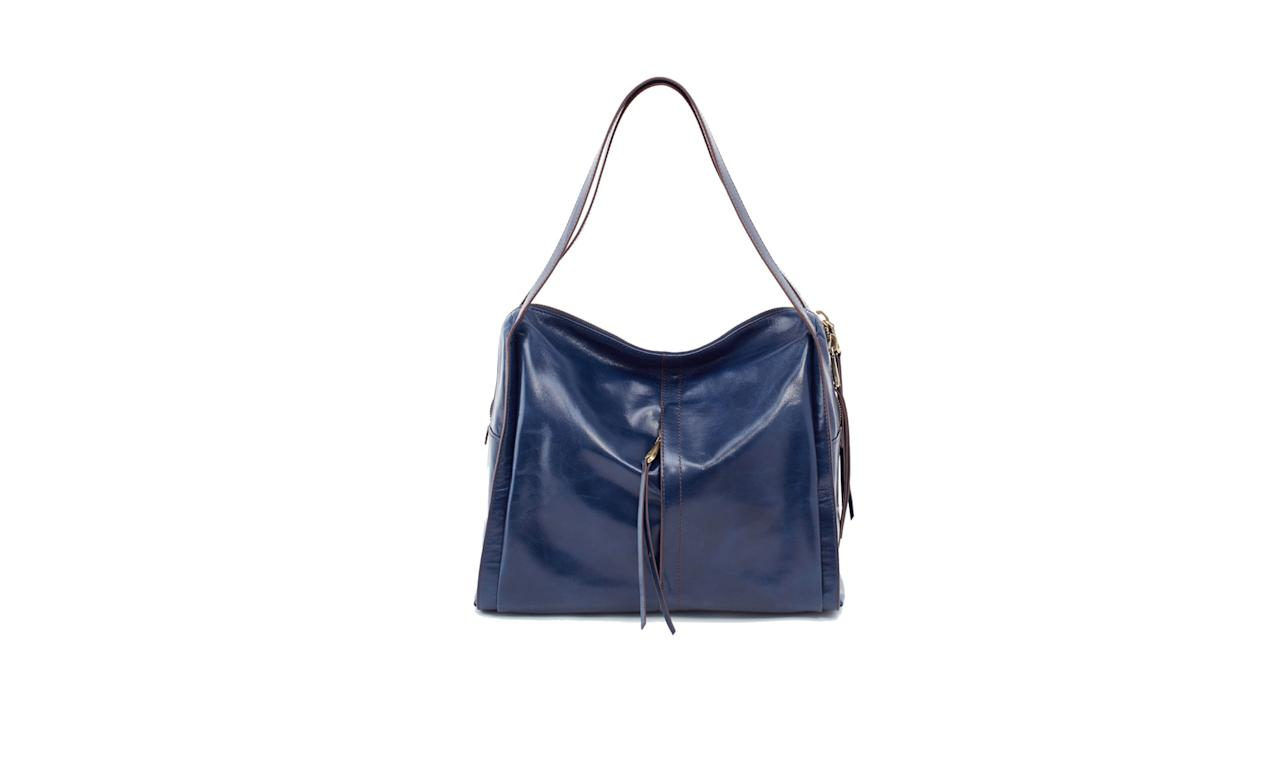 "<p>Century Shoulder Bag, $298, <a rel=""nofollow"" href=""https://www.hobobags.com/century-casual-slouch-big-leather-hobo-blue/p/VI-35659IND-1"">hobobags.com</a> </p>"