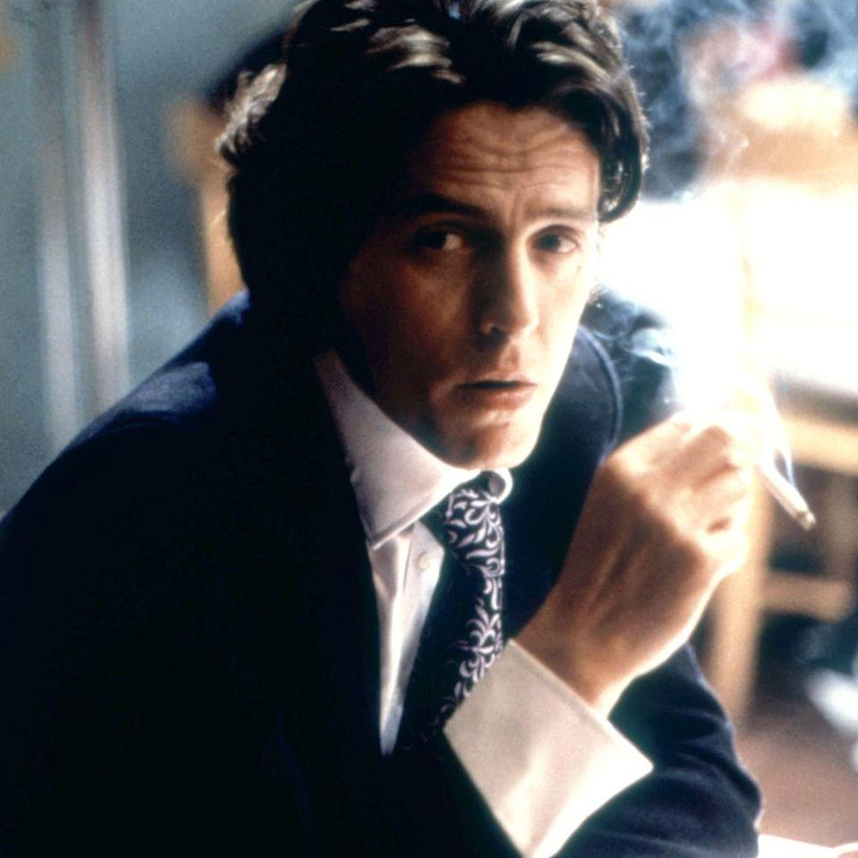 """<p>Hugh Grant in his prime. The actor portrayed a sleazy but seriously sexy publishing executive and the failed love interest/absolutely inappropriate boss of Renée Zellweger's titular protagonist in the 2001 film. Like most of Grant's roles, his charm—and let's face it, hair—distract viewers from the fact that his characters tend to be cheating jerks.</p><p><a class=""""link rapid-noclick-resp"""" href=""""https://www.amazon.com/gp/video/detail/amzn1.dv.gti.8ca9f73a-0c06-3ab2-8a1d-c74823e485ae?autoplay=1&ref_=atv_cf_strg_wb&tag=syn-yahoo-20&ascsubtag=%5Bartid%7C10056.g.34990725%5Bsrc%7Cyahoo-us"""" rel=""""nofollow noopener"""" target=""""_blank"""" data-ylk=""""slk:WATCH NOW"""">WATCH NOW</a></p>"""