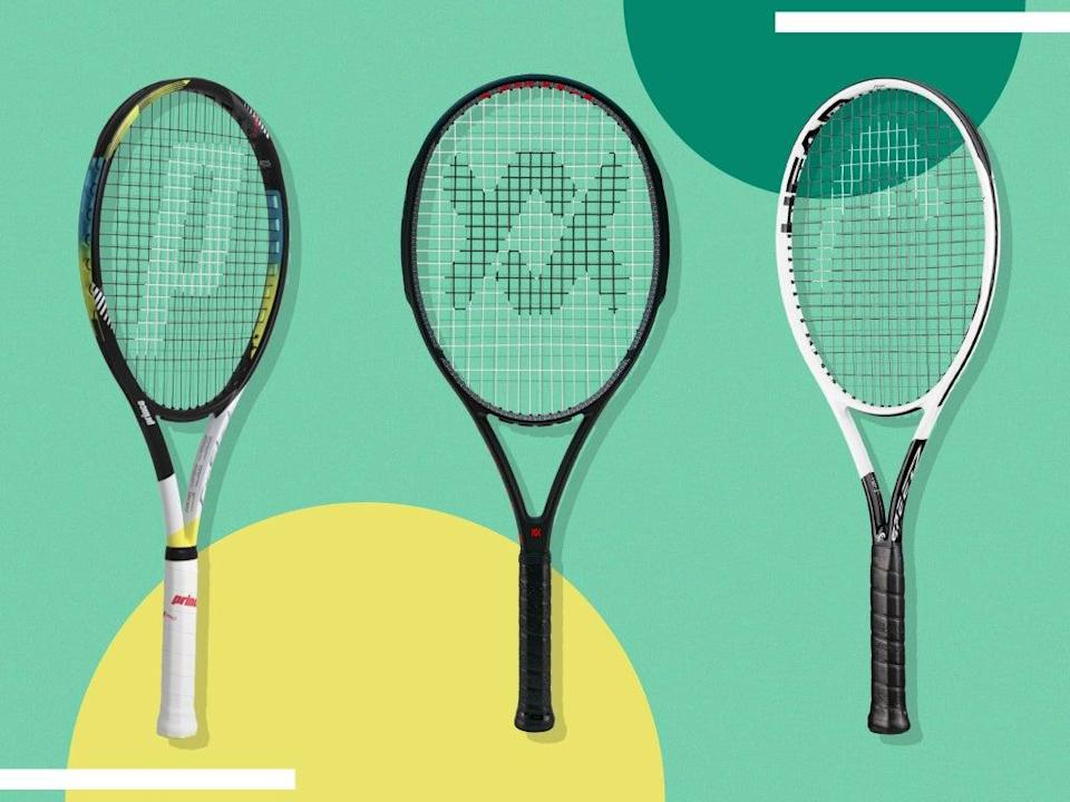 Choosing a racket of around 100 sq in head size and a weight of 300g will generally offer a nice balance of control and power (iStock/The Independent)