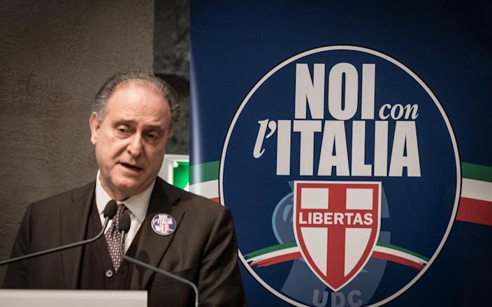 Lorenzo Cesa during his election campaign in 2018 - NurPhoto