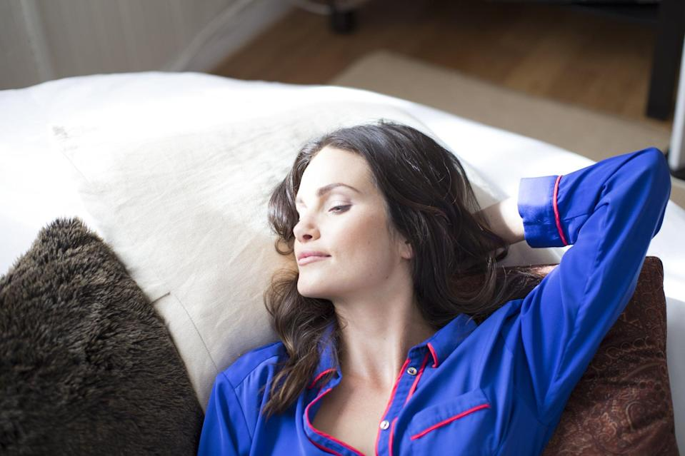 """<p>Life gets hectic, but make sure you're getting enough sleep. Besides strengthening your immune system, proper rest also ensures healthy eating habits. On a daily basis, <a href=""""https://www.popsugar.com/fitness/Sleepy-People-Eat-More-15168241"""" class=""""link rapid-noclick-resp"""" rel=""""nofollow noopener"""" target=""""_blank"""" data-ylk=""""slk:sleepy people eat more"""">sleepy people eat more</a>, and getting enough sleep can <a href=""""https://www.popsugar.com/fitness/How-Sleep-Helps-You-Lose-Weight-27028915"""" class=""""link rapid-noclick-resp"""" rel=""""nofollow noopener"""" target=""""_blank"""" data-ylk=""""slk:help you lose weight in other ways"""">help you lose weight in other ways</a>. After all, think about all the workouts you skip when you're too tired to get to the gym. Aim for seven to eight hours a night. Having trouble falling asleep? Check out <a href=""""https://www.popsugar.com/fitness/How-Fall-Asleep-Right-Away-36597887"""" class=""""link rapid-noclick-resp"""" rel=""""nofollow noopener"""" target=""""_blank"""" data-ylk=""""slk:this breathing trick"""">this breathing trick</a>.</p>"""