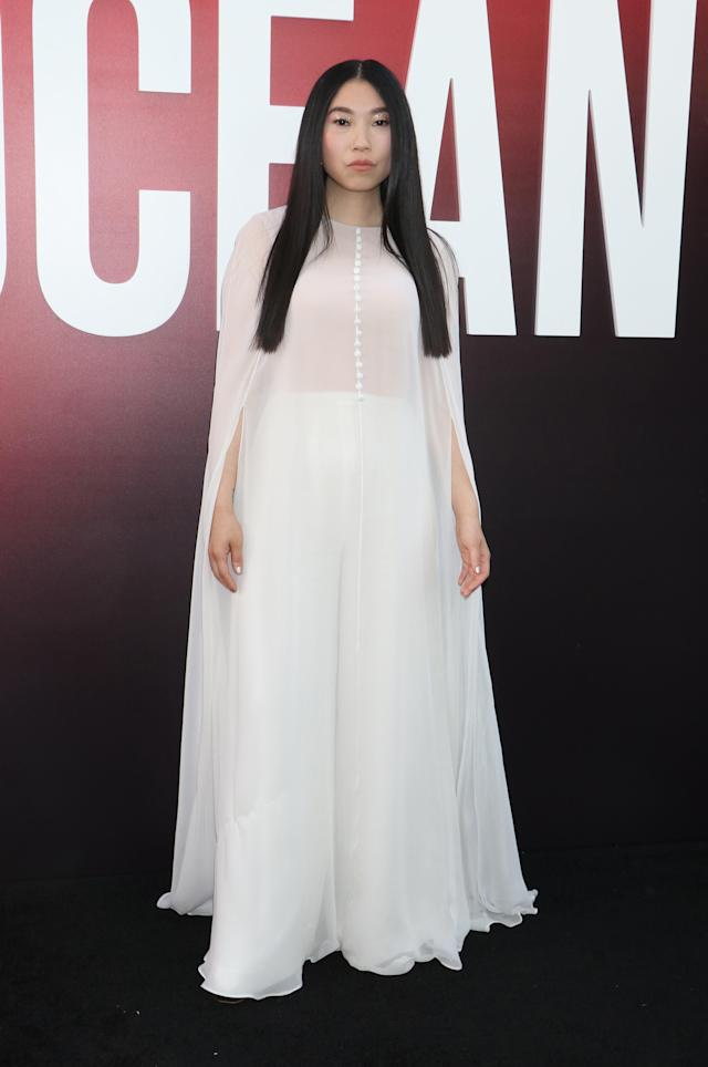 <p>Wearing Reem Acra. (Photo: Getty Images) </p>