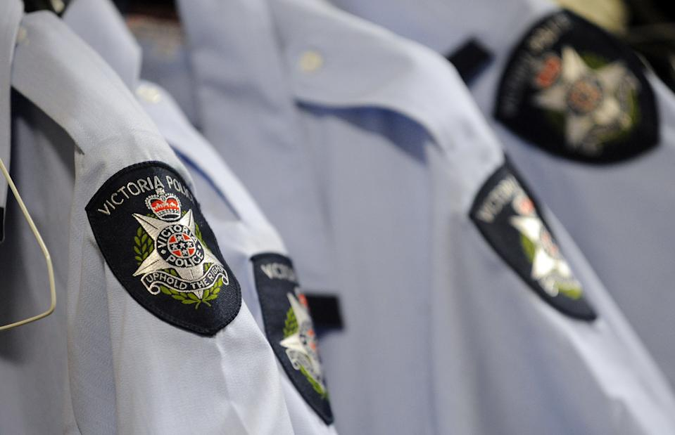 Generic image of Victoria Police shirts at the Victoria Police Academy, east of Melbourne.