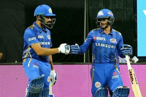 Rohit Sharma (left) and Quinton de Kock (right) form a lethal opening pair for the defending IPL champions Mumbai Indians.