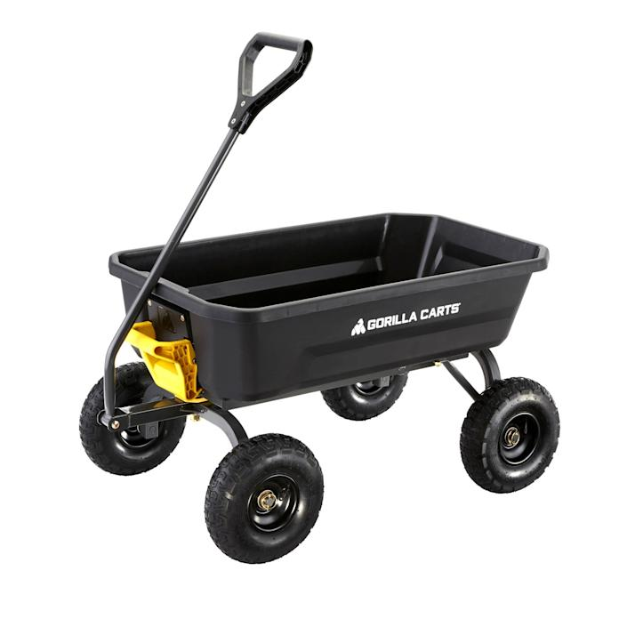 Garden Dump Cart from Gorilla Carts.