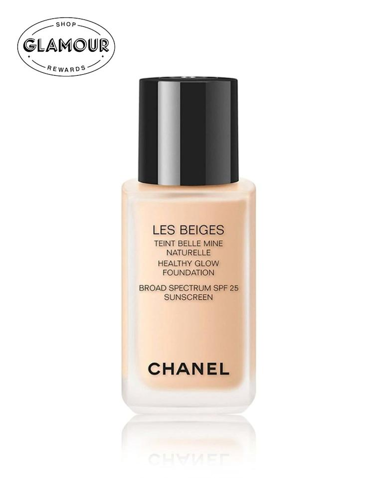 """$60, Chanel Les Beiges Healthy Glow Foundation. <a href=""""https://shop-links.co/1679885546520696736"""">Get it now!</a>"""