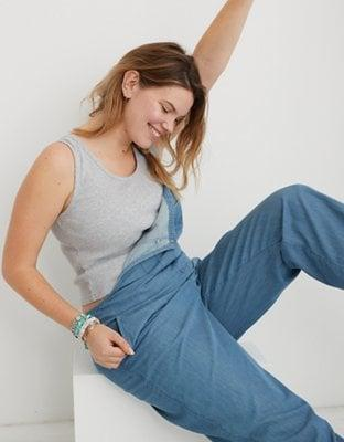 <p>Get yourself this cute <span>Aerie Distressed Baby Tank Top</span> ($15, originally $25), and thank us later.</p>