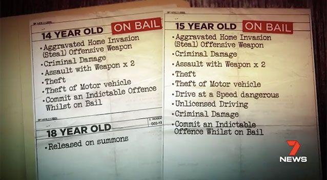 A 14-year-old and a 15-year-old who were on bail, were arrested and face charges. An 18-year-old was also arrested. Picture: 7 News