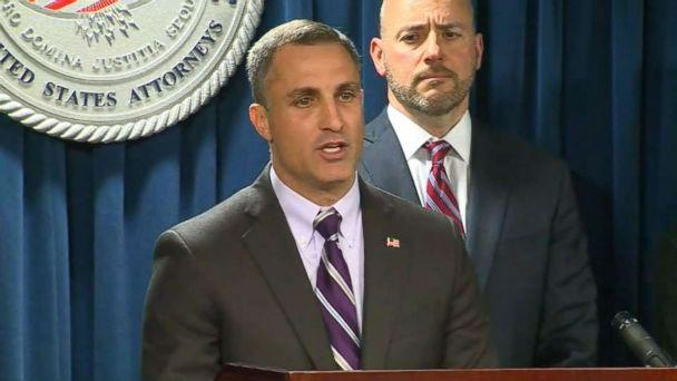 PHOTO: Joseph R. Bonavolonta, special agent in charge of the Boston Field Office speaks at a press conference on March 12, 2019. (ABC News)
