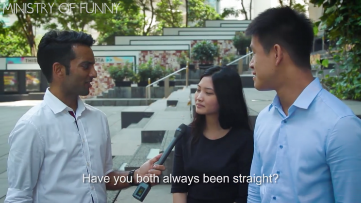 Interviewees looked confused after being asked if they have always been straight.