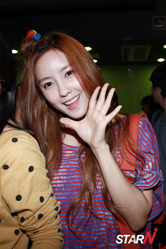 """[Photo] T-ara's Hyomin """"Great to be back in Korea!"""""""