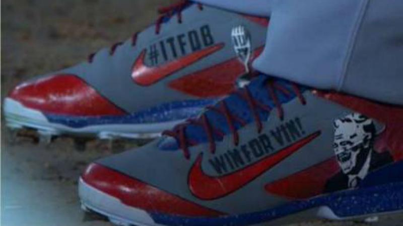 best website 07ea7 62590  Yasiel Puig dons special Nike cleats to honor Vin Scully